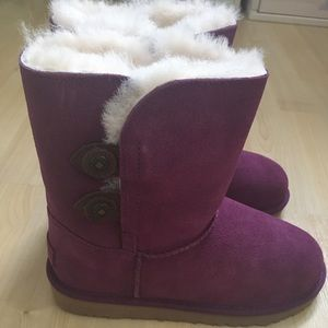 Ugg Girls Purple Boots 3 New